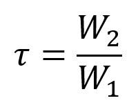 coefficient de transmission tau